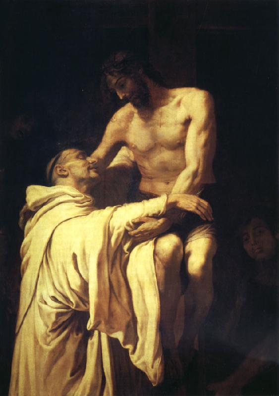RIBALTA, Francisco Christ Embracing St.Bernard oil painting image